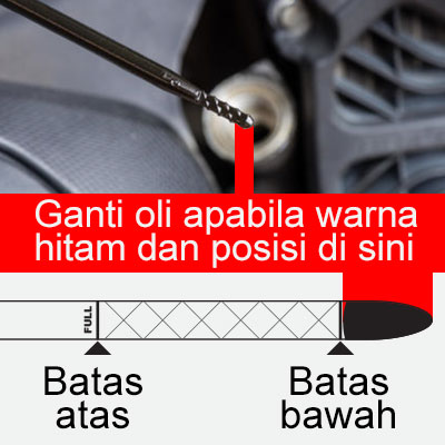 Check oil deep stick